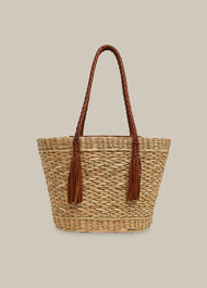 Lianne Straw Tote Neutral