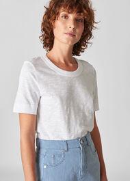 Rosa Double Trim T Shirt White