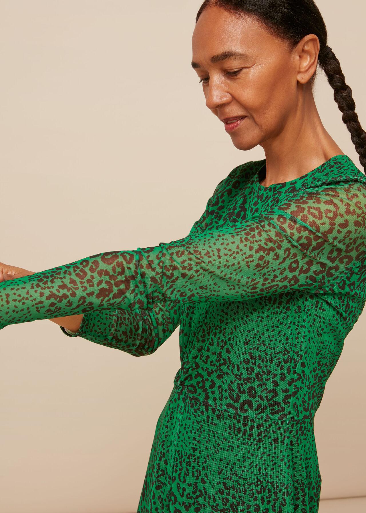 Speckled Animal Mesh Dress