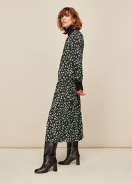 Daisy Spot Trapeze Dress