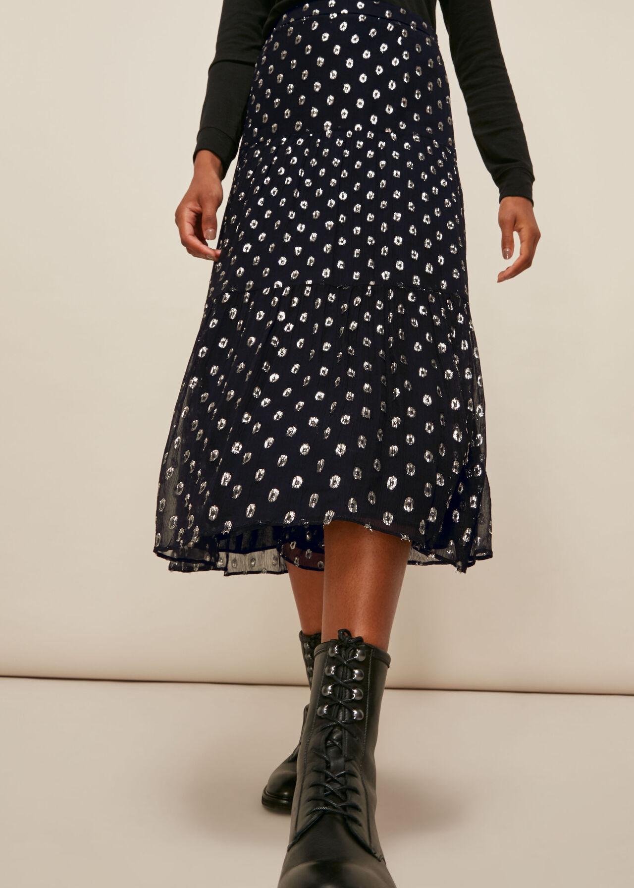 Metallic Dobby Skirt