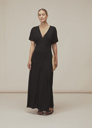 Jersey Wrap Midi Dress