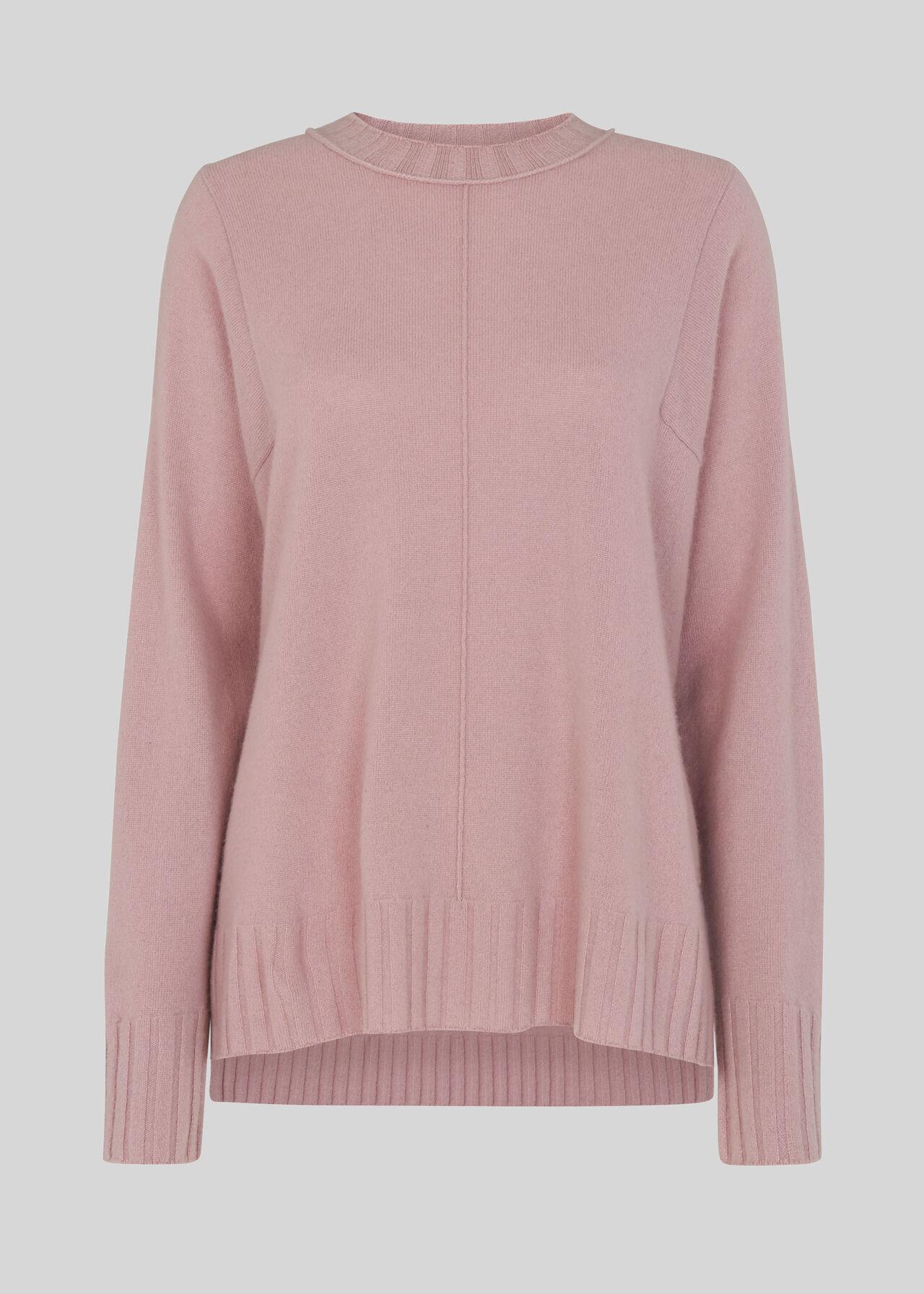 Cashmere Crew Neck Sweater Pink