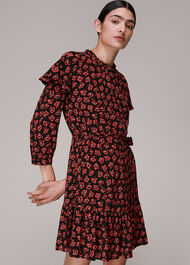 Botanical Garden Print Dress