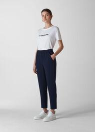 Elyse Side Stripe Trouser Navy