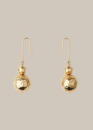 Hammered Sphere Earring Gold/Multi