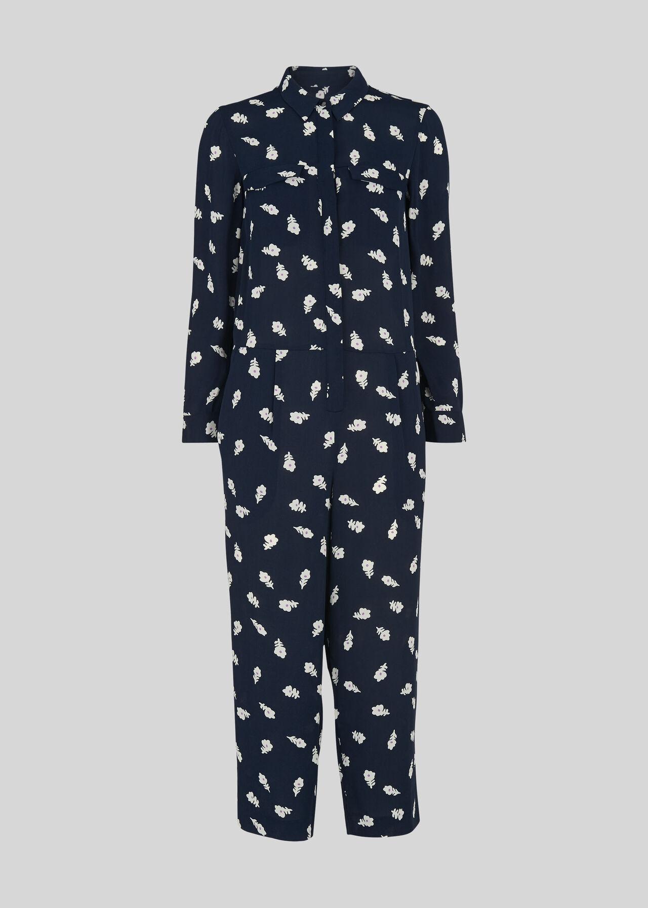 Rowan Print Bonny Jumpsuit Navy/Multi