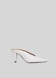 Ari Slip On Mule White