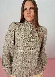 Tie Neck Detail Knit