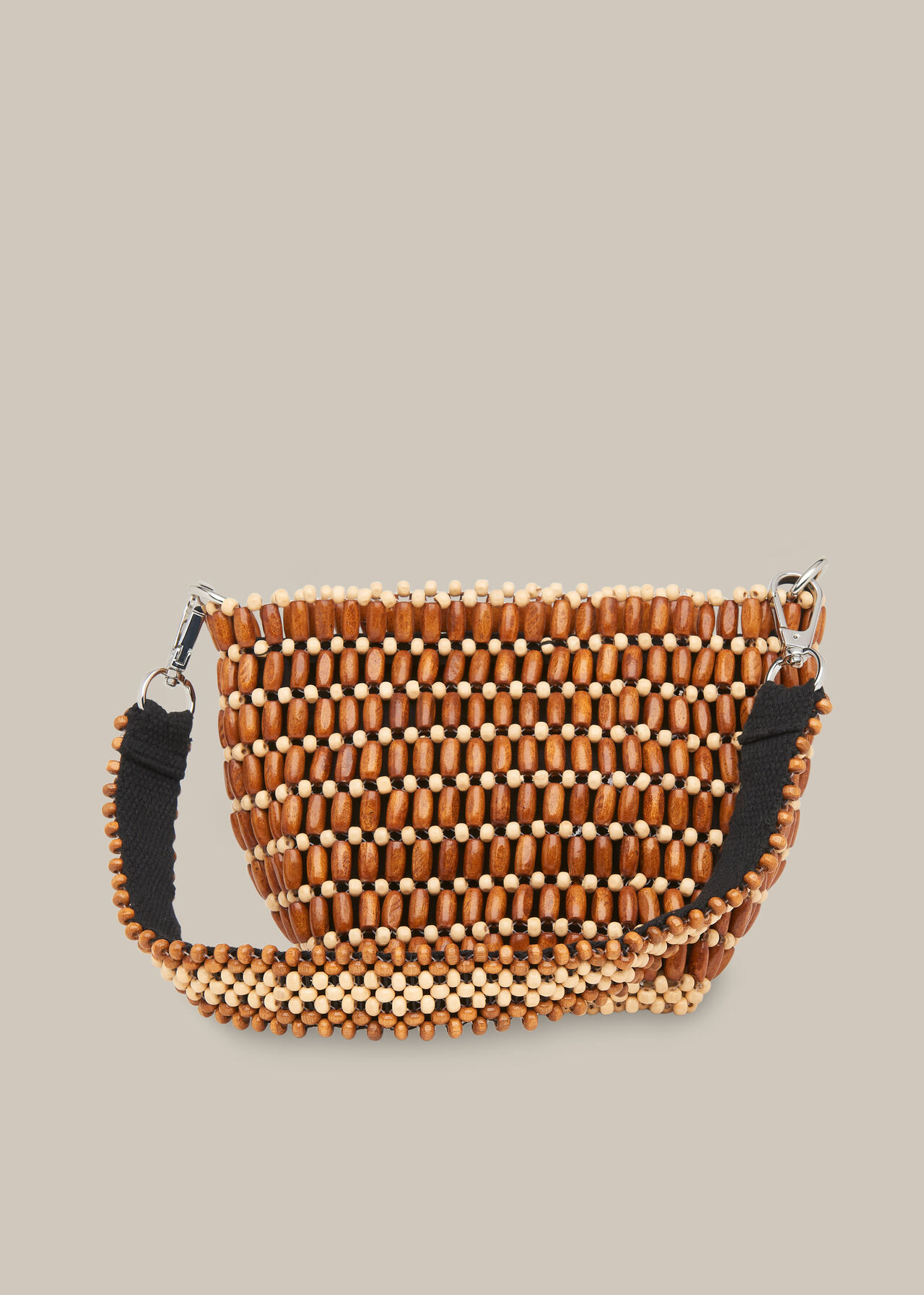 Martha Mini Beaded Bucket Bag