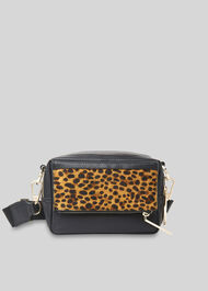 Bibi Leopard Crossbody Bag Black/Multi
