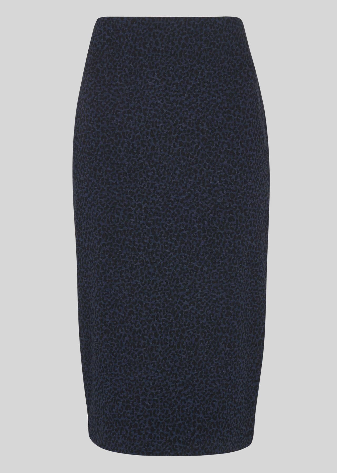 Animal Jersey Tube Skirt Navy/Multi