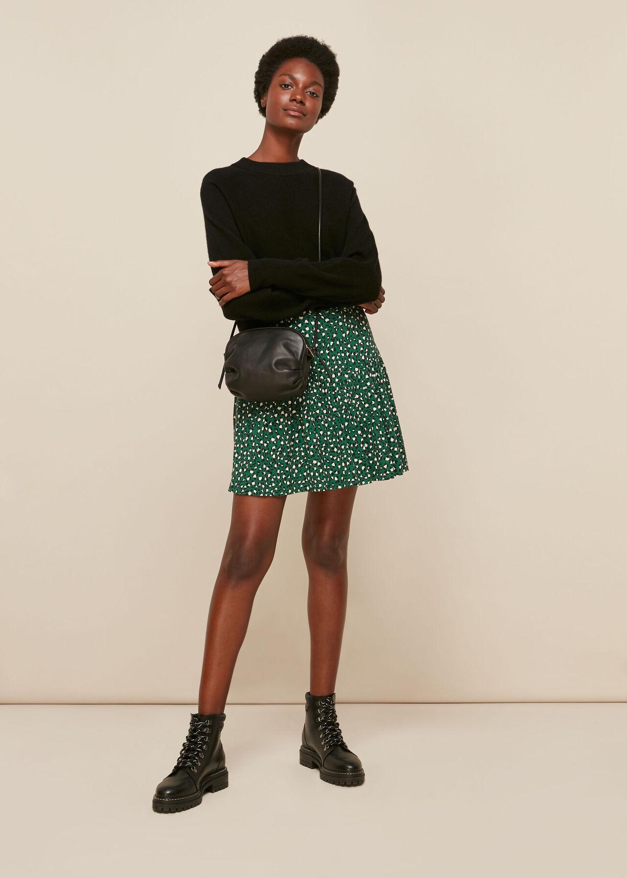 Wild Leopard Flippy Skirt
