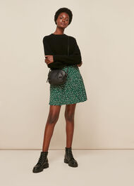 Wild Leopard Flippy Skirt