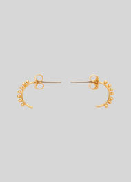 Tiny Studded Curve Earring Gold/Multi