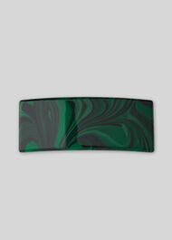 Resin Hair Clip Green
