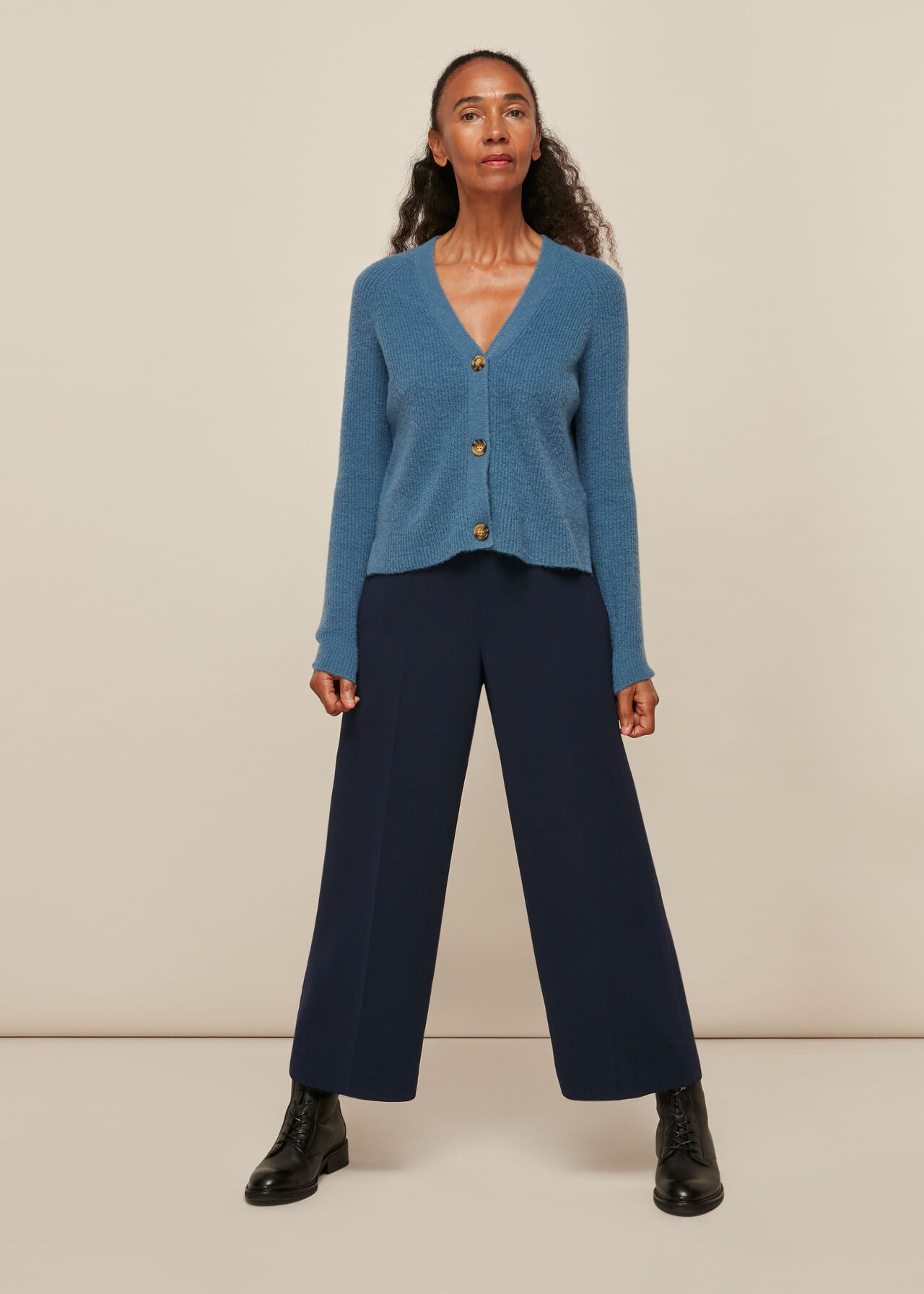 Wide Leg Crop Trouser
