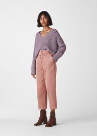 Cord Belted Trouser Pink