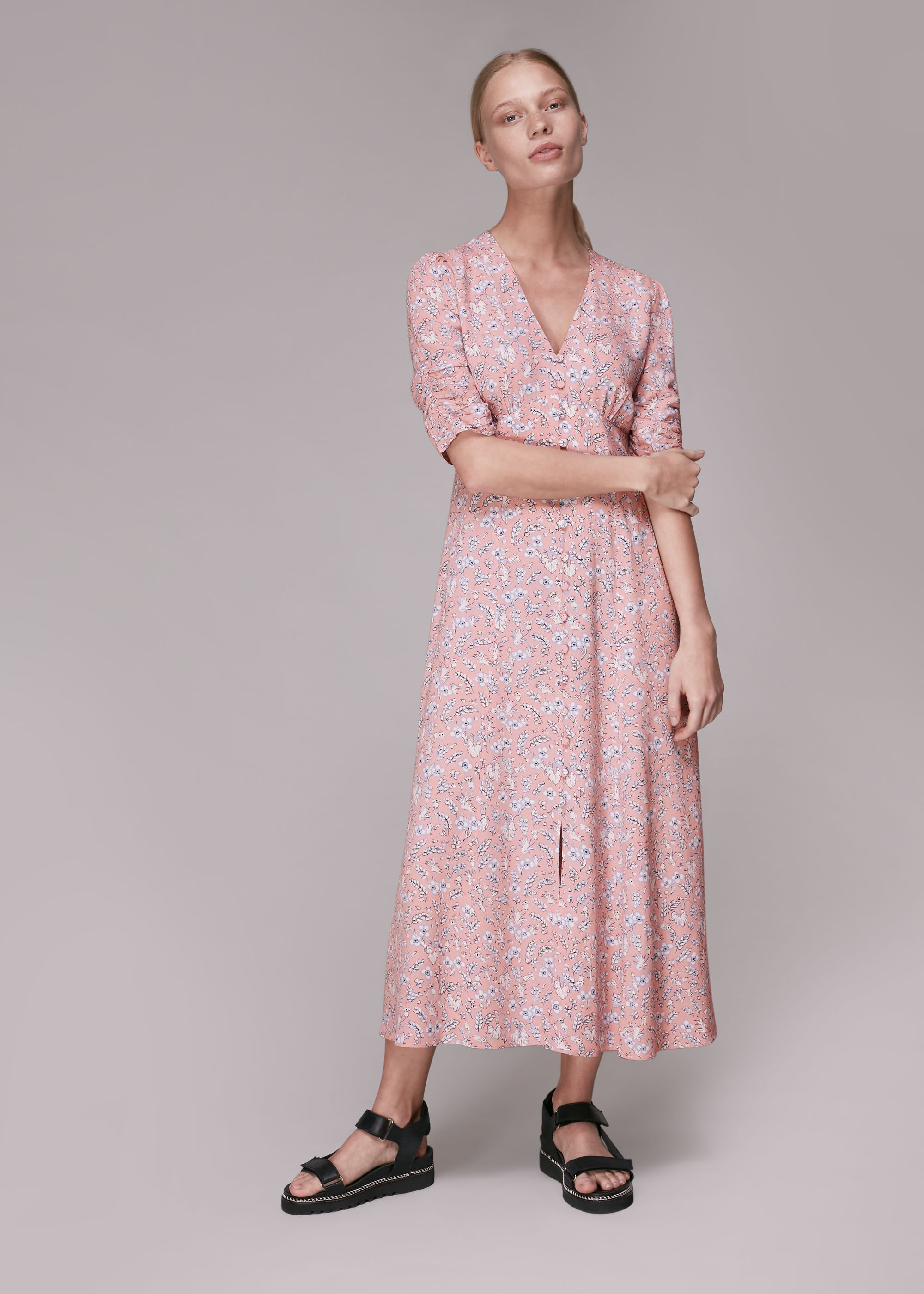 Whistles Women Wheat Floral Midi Dress