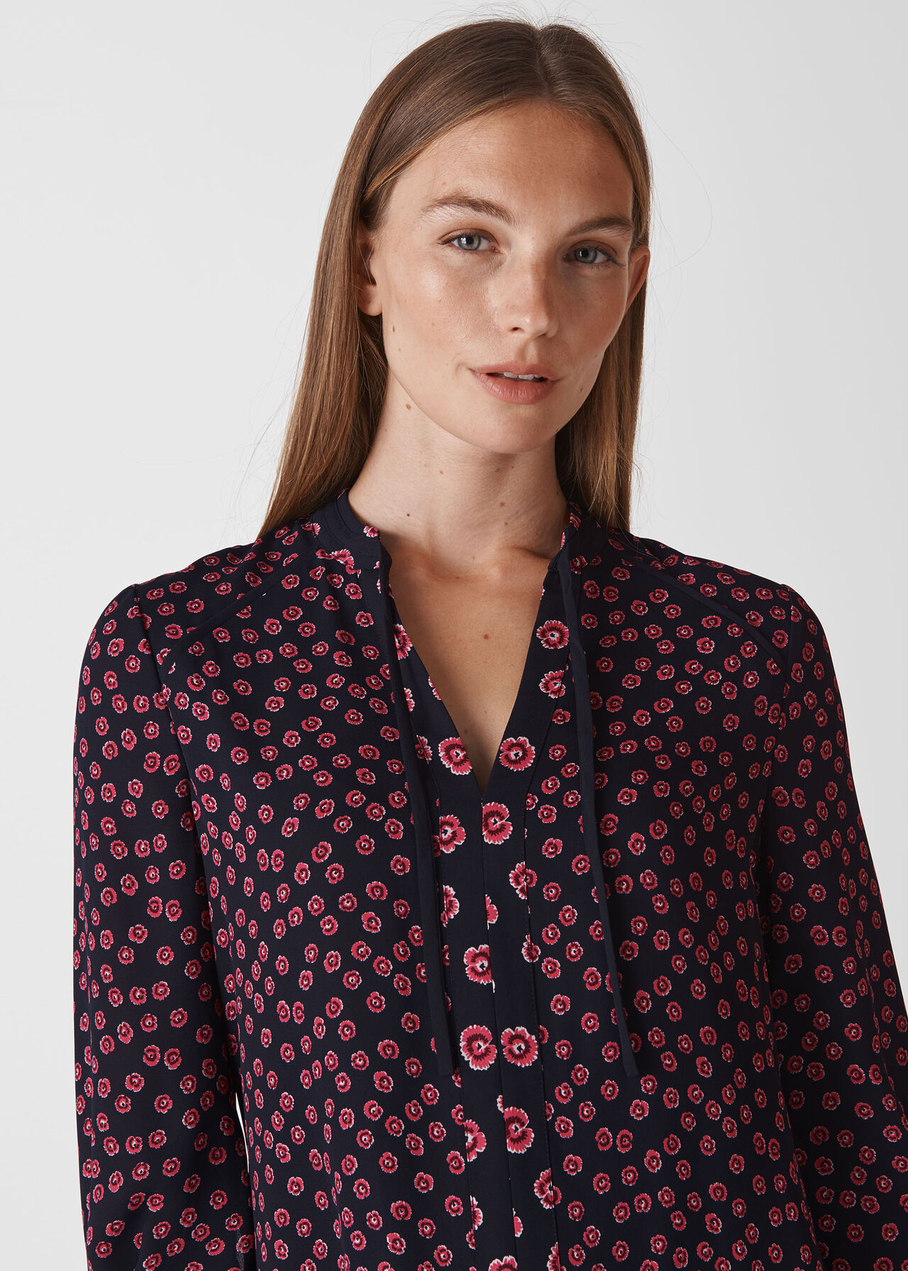Lenno Print Shirt Dress Pink/Multi