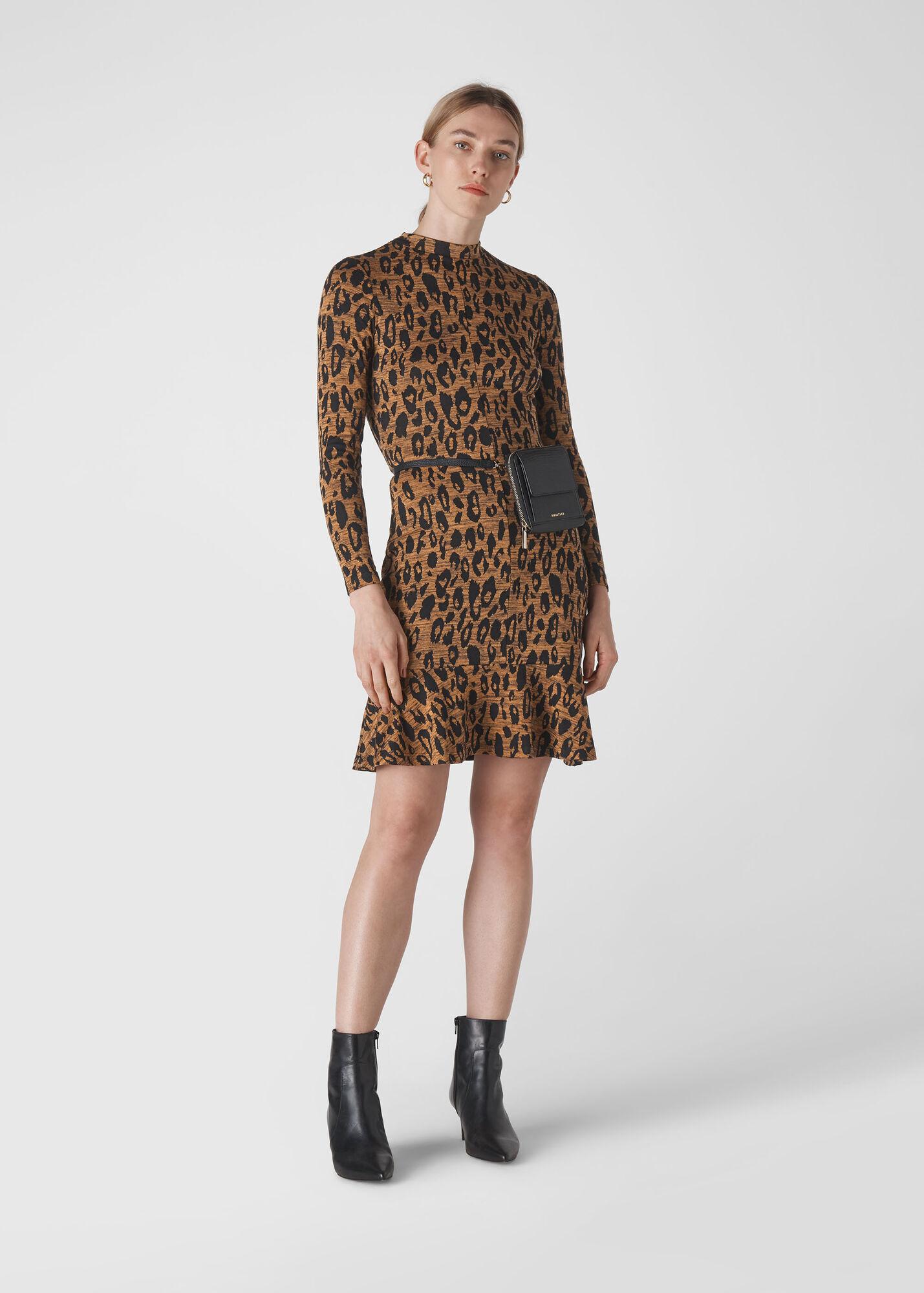 Animal Jersey Flippy Dress