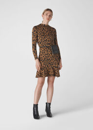 Animal Jersey Flippy Dress Multicolour