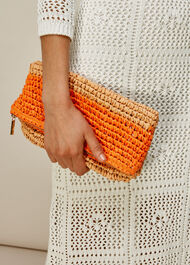 Chapel Foldover Paper Clutch Orange/Multi