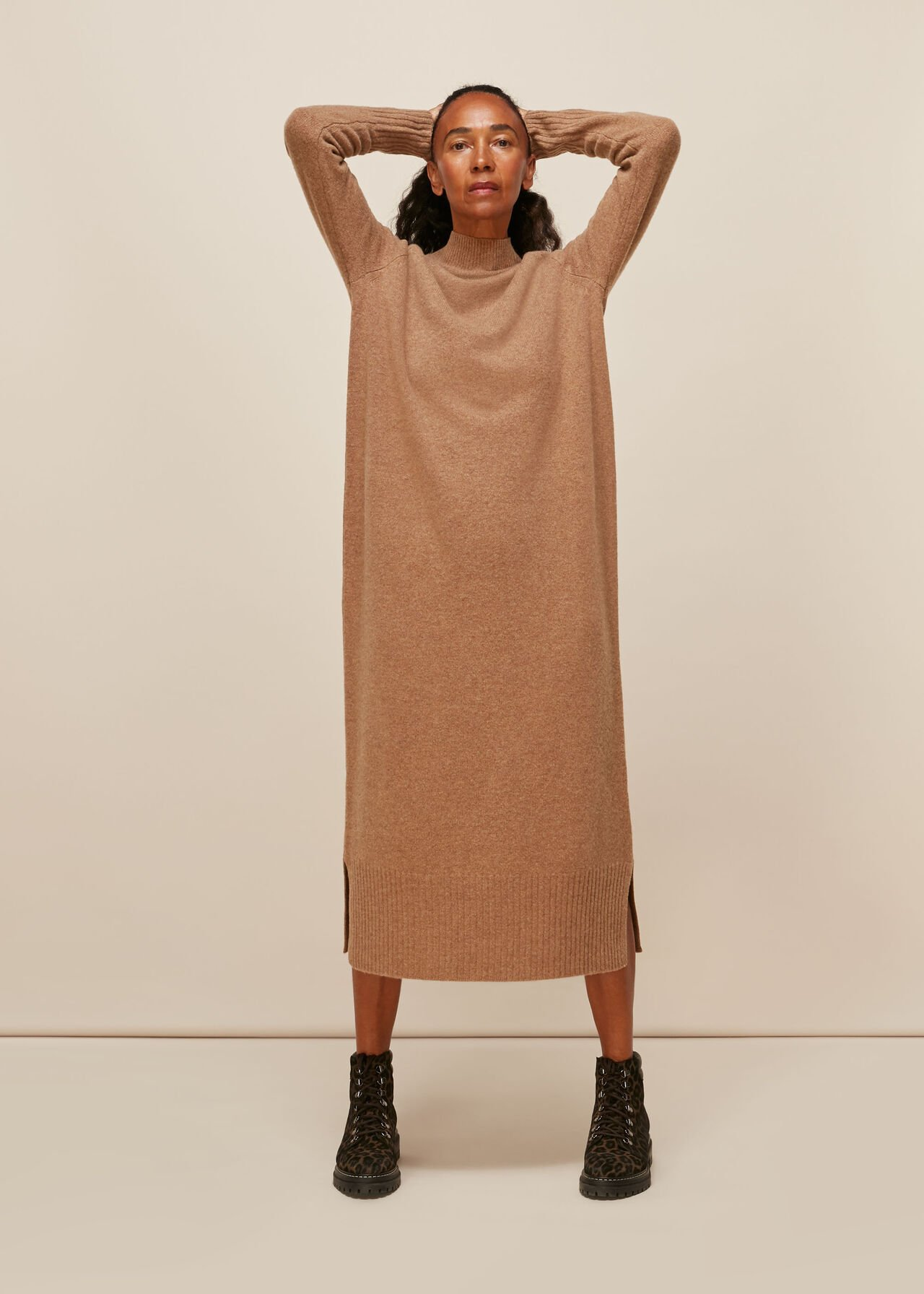 Longline Wool Knit Dress