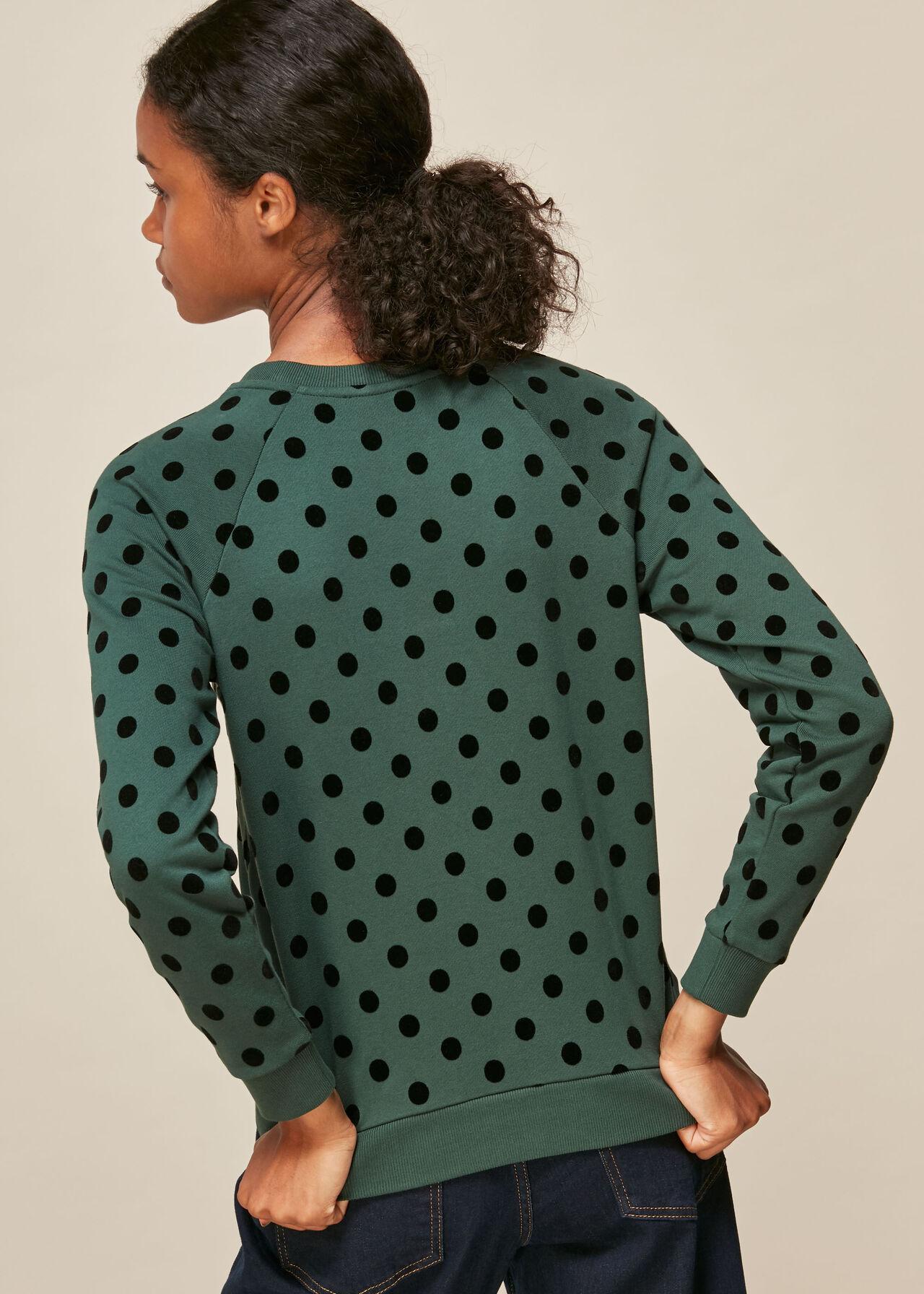 Flocked Spot Sweatshirt