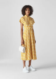 Ilana Check Shirt Dress Yellow/Multi