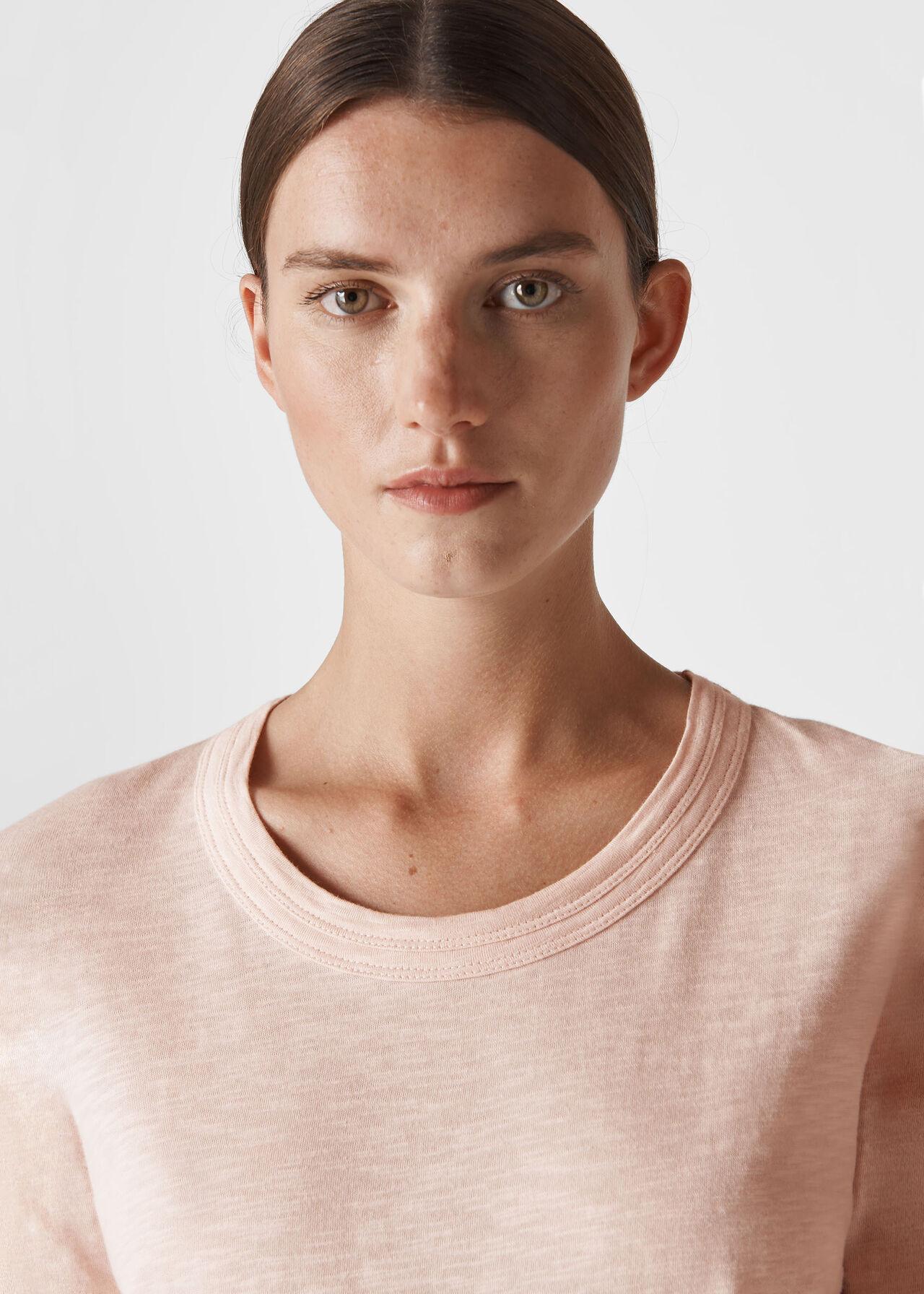 Rosa Double Trim T-Shirt Pale Pink