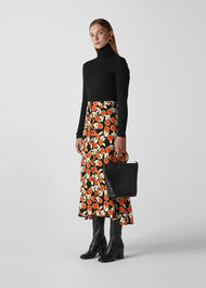 Dandelion Print Skirt Multicolour