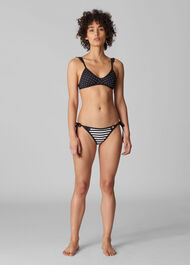 Santiago Bikini Pant Black and White