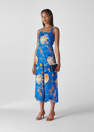 Exotic Floral Jumpsuit Blue/Multi