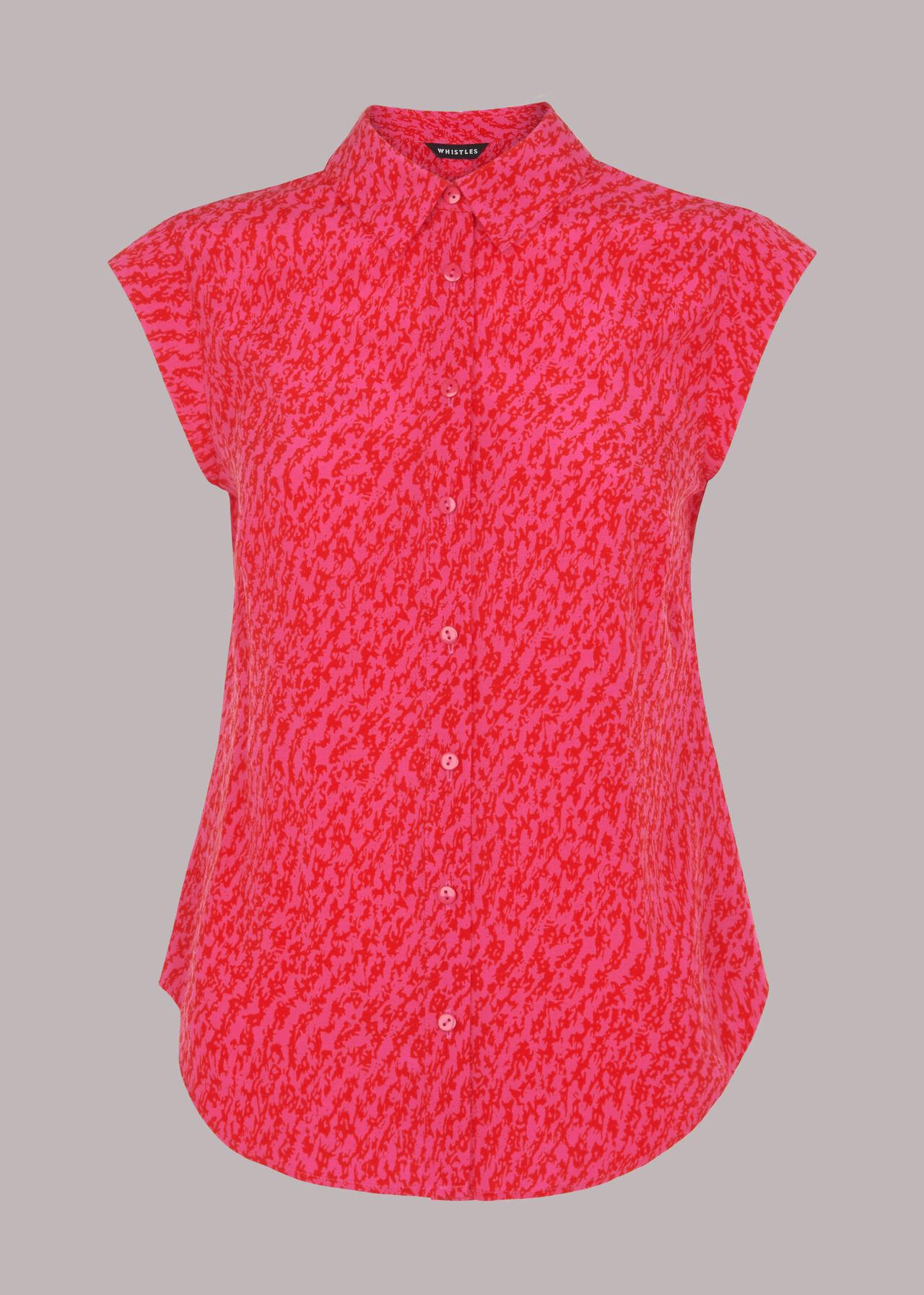 Diagonal Sleeveless Shirt