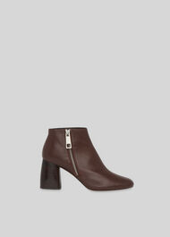 Pippa Side Zip Boot Brown