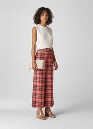 Cara Check Trouser Red/Multi