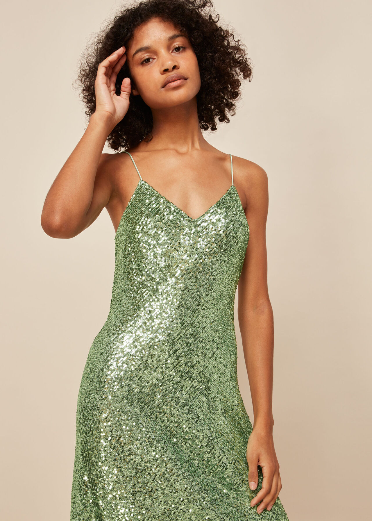 Dagma Sequin Slip Dress