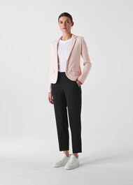 Whistles Slim Jersey Jacket Pale Pink