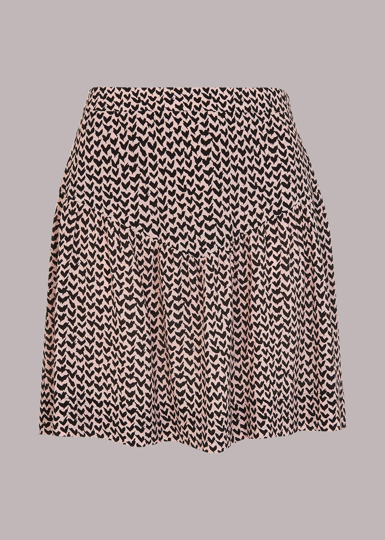 Abstract Heart Flippy Skirt