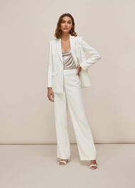 Annie Wedding Trouser Ivory/Multi