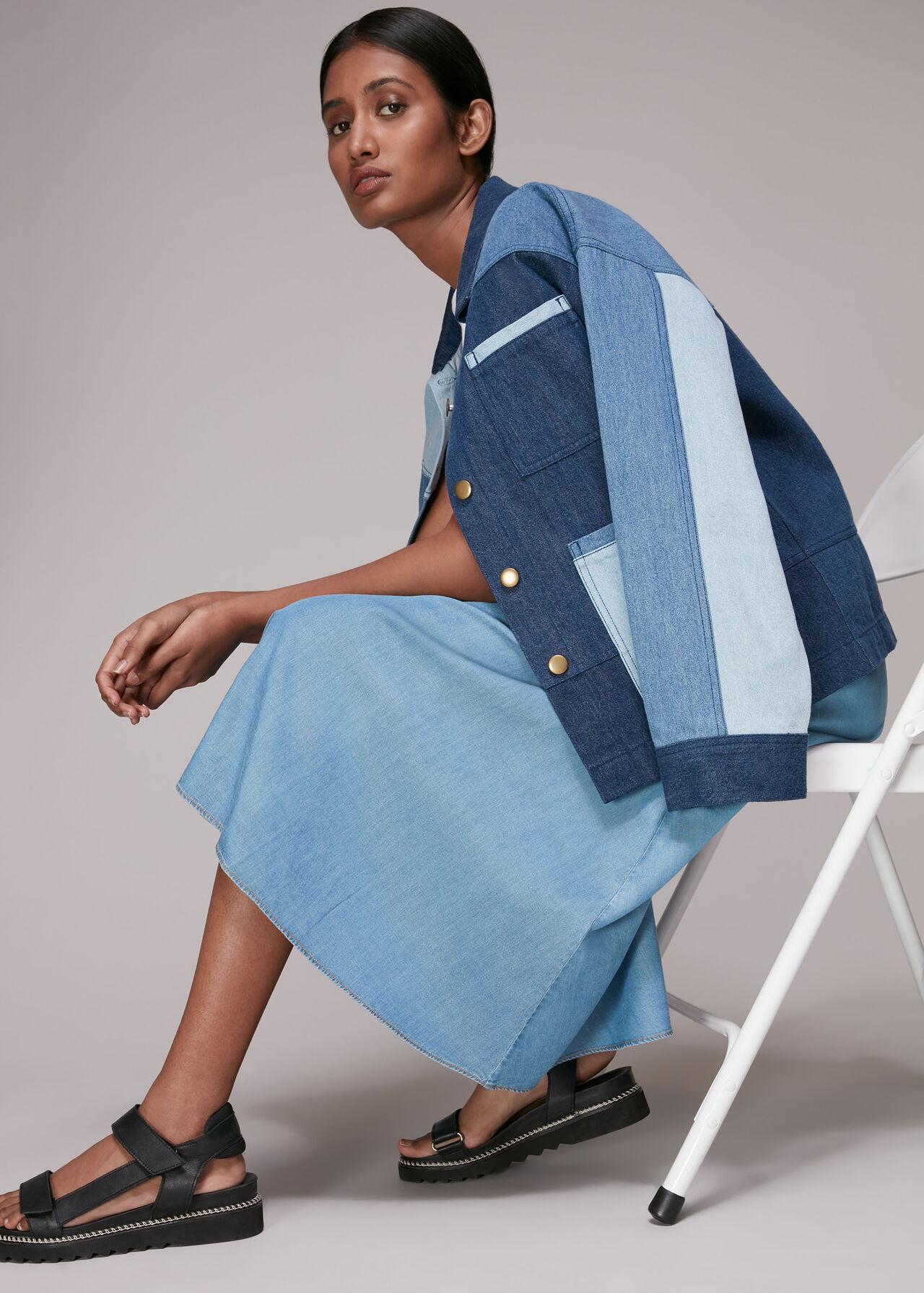 Denim Chambray Skirt