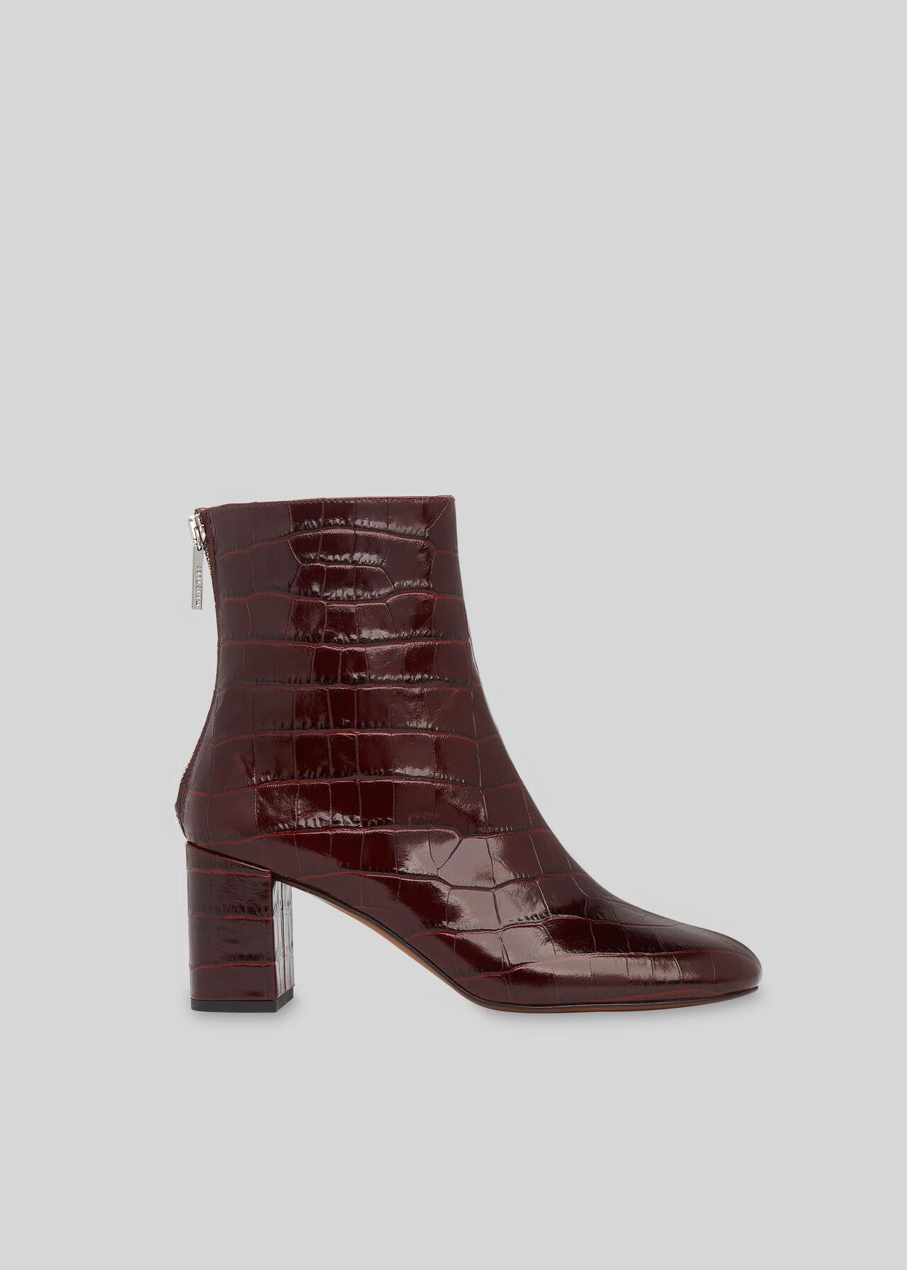 Bartley Back Zip Boot Burgundy
