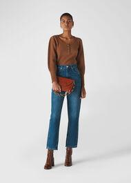 Millie Rib Wool Knit Brown