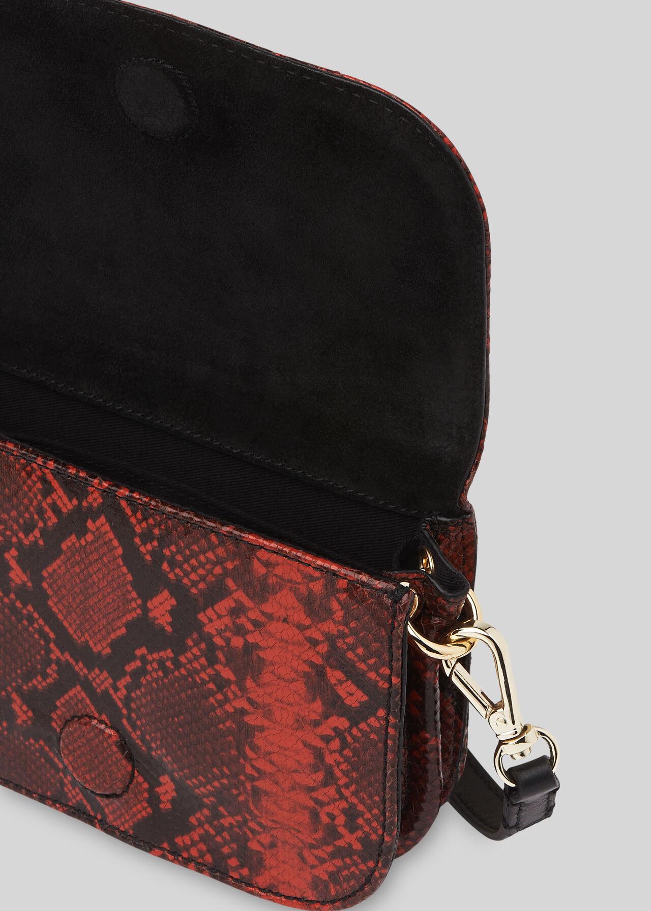 Sara Snake Crossbody Bag Red