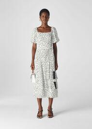 Viola Dress Black and White