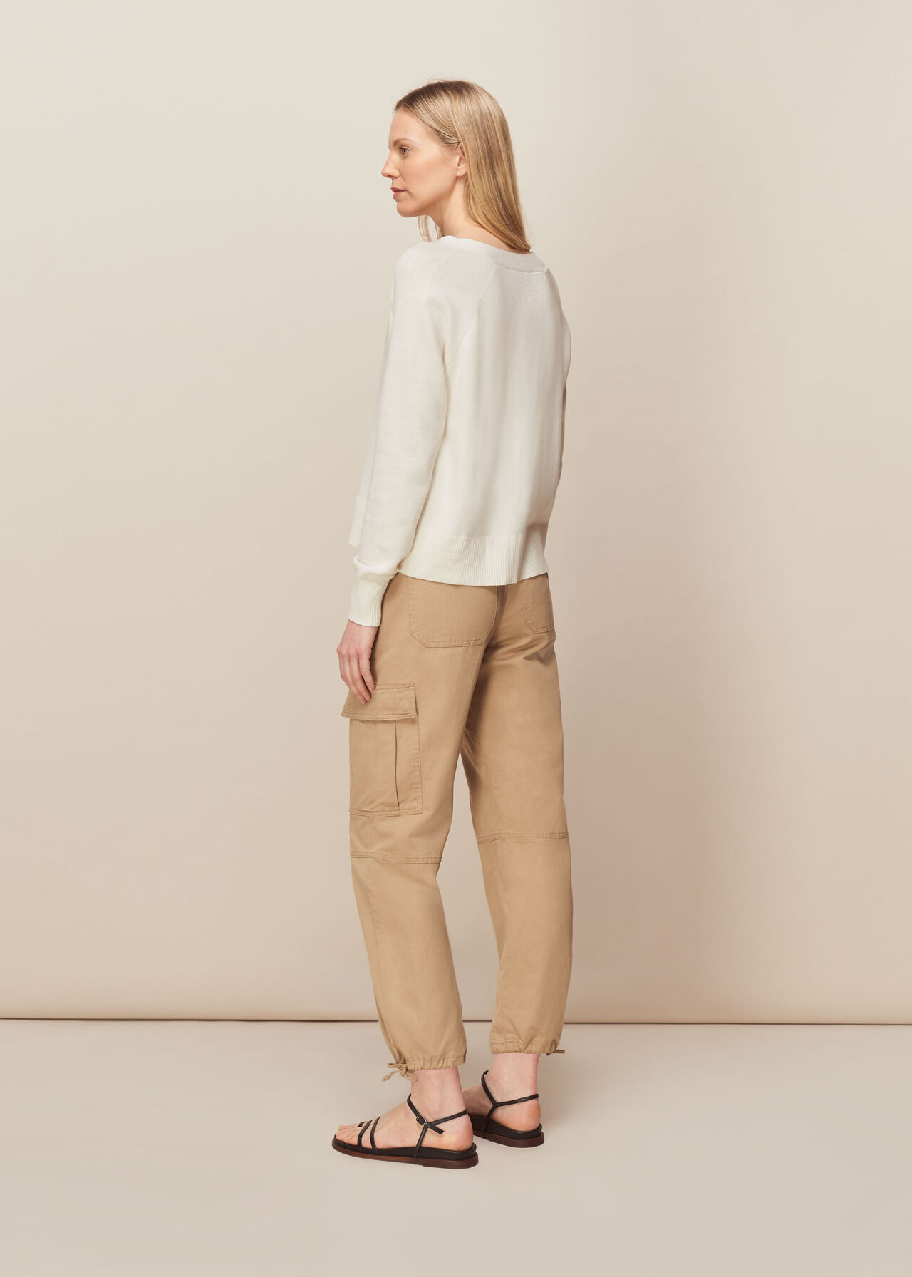 Button Front Cardigan Ivory
