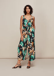 Tropical Floral Jumpsuit Green/Multi