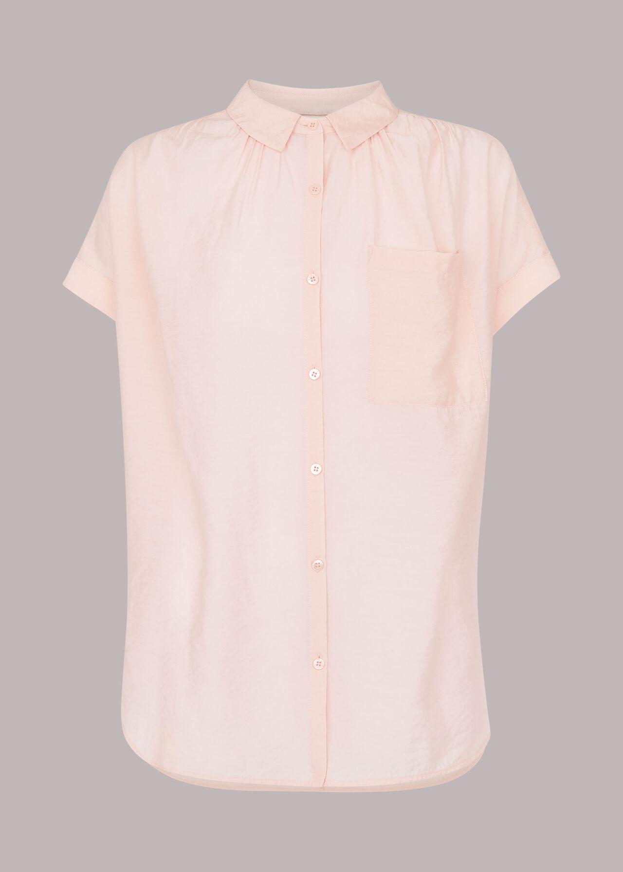 Nicola Button Through Shirt Pale Pink