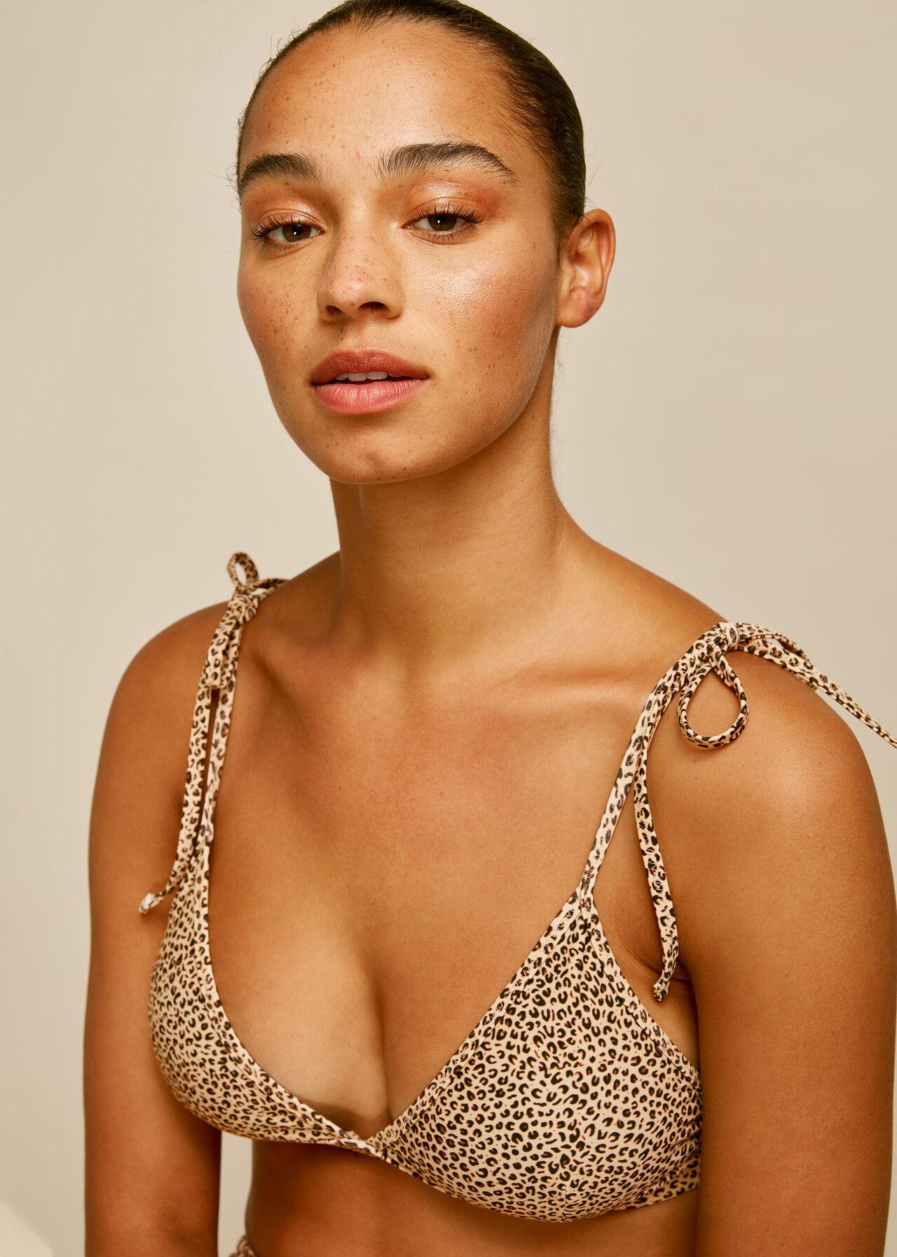Mini Leopard Print Bikini Top Leopard Print